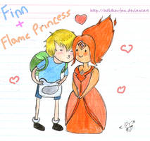 Finn and his Flame Princess by adidsevfan