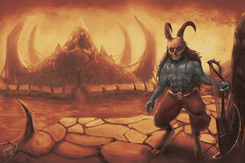 Blooded Mountain - Death Metal Lands by Kronteisdrawing