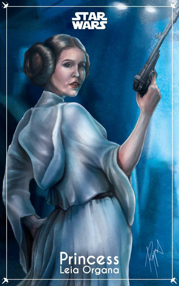 Princess Leia Organa (Character Cards) by RoysRoys