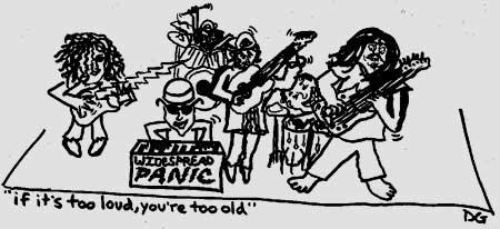 Widespread Panic 1992 drawing by dbgold