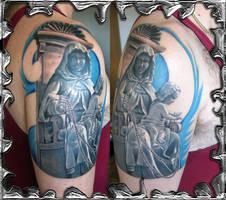 Hail Mary Jesus - tattoo by mojotatboy