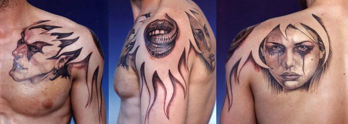 Mix-Up - tattoo by mojotatboy