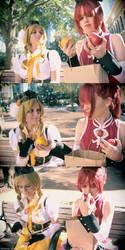 Sharing a little snack. by Neko-Kaolla