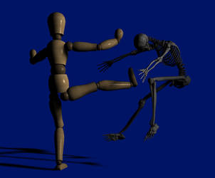Heel kick by Snakesqueezer