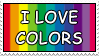 I LOVE COLORS stamp by KawaiiLizzie
