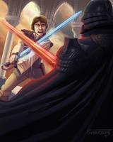 Medieval Luke Vs. Vader by Aerowan