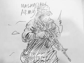 Malaysian Army by hasrulGGK