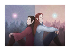 Maglor and Maedhros by rowanbaines