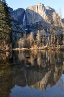 Yosemite Falls Reflection by salohcin19