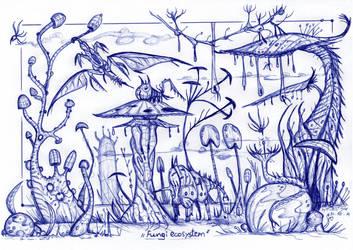 Fungi ecosystem by MickMcDee
