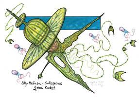 Sky Medusa Subspecies - Green Rocket! by MickMcDee