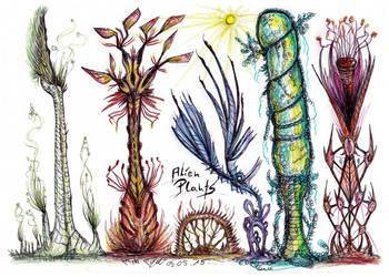 Alien plants by MickMcDee