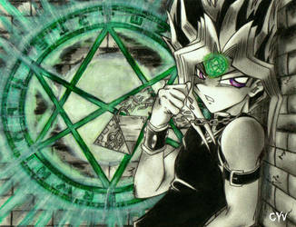 Yami cursed by the Orichalcos by CupidYamiVolta