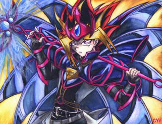 Yami in Magician B.Chaos armor by CupidYamiVolta
