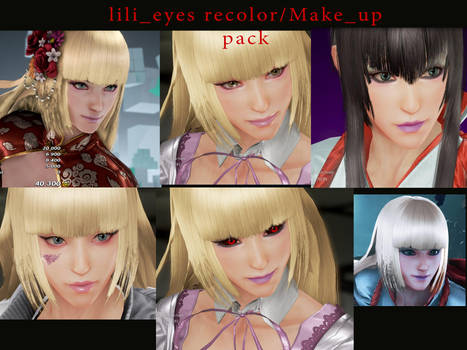 LILI EYE RECOLORS/MAKE_UP  PACK by thedeclic