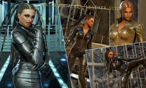 KATARINA ALVES_ leather_suit by thedeclic