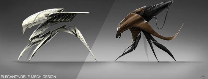 Elegant MECH Design / Concept Art by nobody00000000