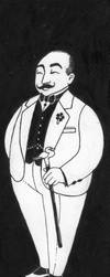 Hercule Poirot - bookmark by Harumirun
