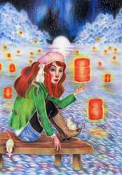 Lantern of wishes by Harumirun