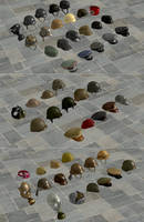 WWII Hats and Helmets by redbaron7