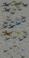 WWII Airplanes by redbaron7