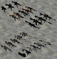 Modern Weapons Pack by redbaron7