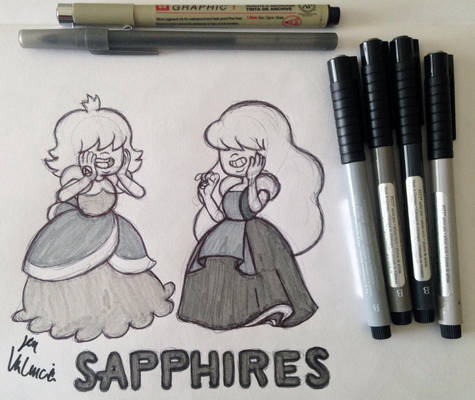 Inktober: Sapphires