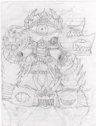 The fallin demon of dark souls by healix