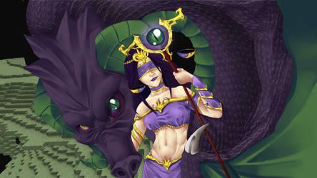 Goddess Ianite Fanart by Weakjounin