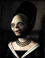 Portrait of a Young Gollum by Drokallame