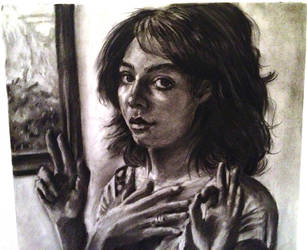 self portrait -- life drawing (cu) by mikamoo2u2