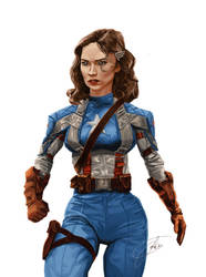 Agent Carter as Captain America by JohntheMurray