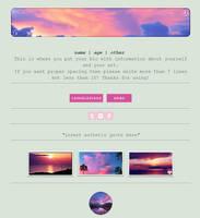 Non-Core Custom Box - Sunset Clouds by asayyu
