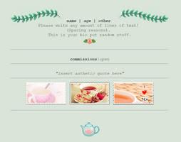 Non-Core Custom Box - Rose Tea and Herbal Leaves by asayyu