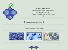 Non-Core Custom Box - Blueberries by asayyu