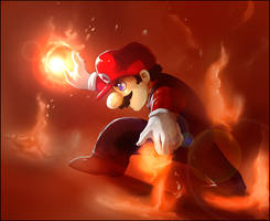 Mario : Flames of a Hero by PinkPuffKirby