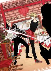 [Kuro-e Challenge] Jorge vs. the ninja squad by hanaoka-a