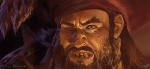 Study 4 : Blackbeard by DamienDed