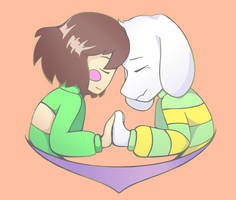 Chara and Asriel by Traumeria
