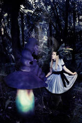 Wrong Alice - Blue Catterpilar by Itonia
