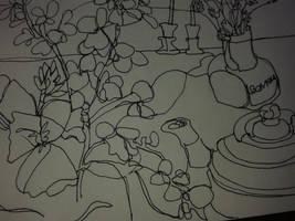 Sketchbook still life by hundredsand