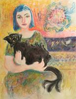 Hippie cat by hundredsand