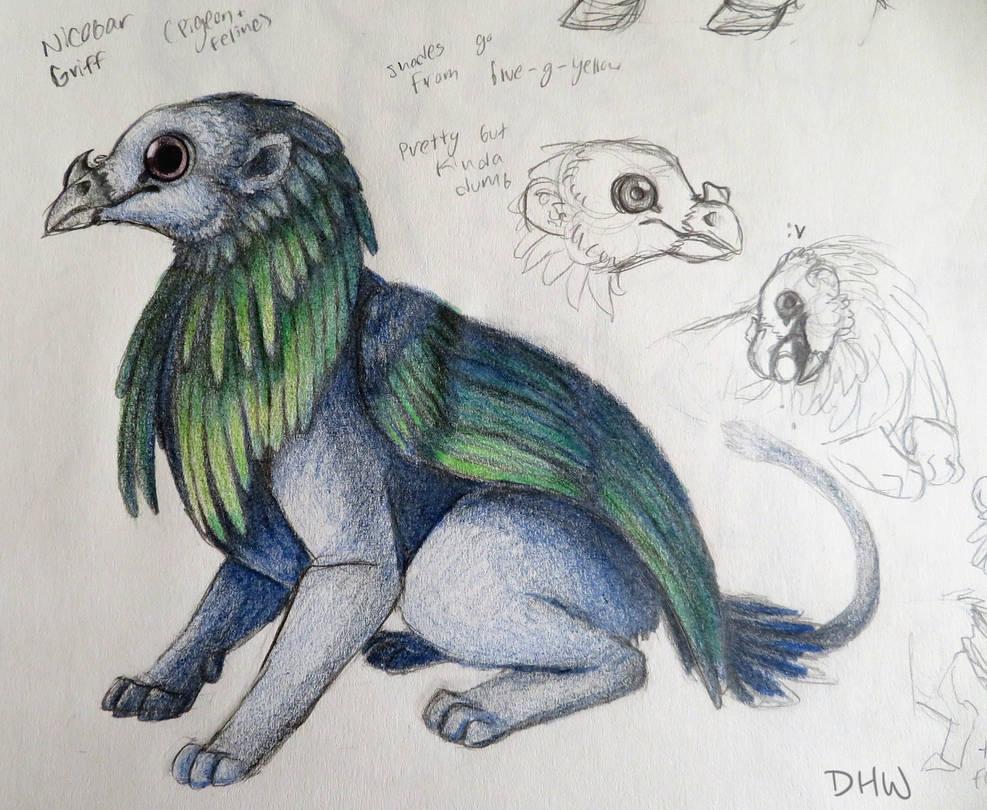 Nicobar Griffin by DragonHeartWolf