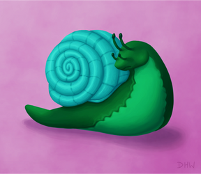Voltaic Snail by DragonHeartWolf