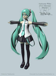 [WIP] Hatsune Miku 2015 Model by The-Sky-Is-Up