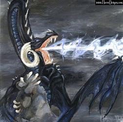 Black Ice Dragon by drakhenliche