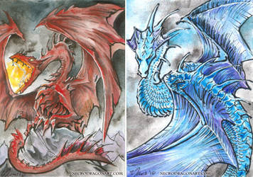 Dragon ATCs by drakhenliche