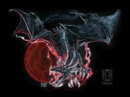 Moon Dragon by drakhenliche