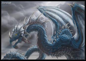 Blue Dragon. Stormlight by drakhenliche