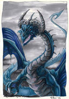 Blue Dragon by drakhenliche